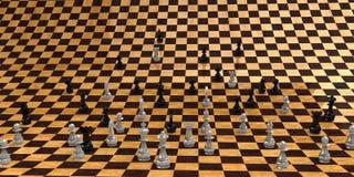 El tablero de ajedrez infinito Imagenes de archivo