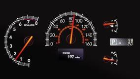 El tablero de instrumentos del coche stock de ilustración