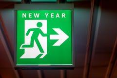 El tablero que señala una manera al Año Nuevo Imagen de archivo libre de regalías