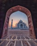 El Taj Mahal colorido foto de archivo