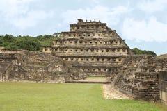 El Tajin考古学废墟,韦拉克鲁斯,墨西哥 免版税图库摄影