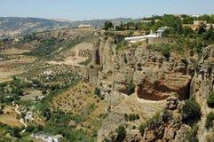 El Tajo Canyon from Ronda, Spain Royalty Free Stock Image