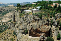 El Tajo Canyon from Ronda, Spain Stock Images