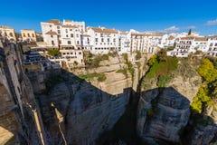 EL Tajo di Ronda, Malaga, Spagna Fotografia Stock Libera da Diritti