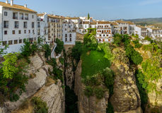 El Tajo ravine. The El Tajo ravine on the south side of the New Bridge in Ronda Spain Royalty Free Stock Photos