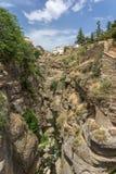 El Tajo ravine. The El Tajo ravine on the south side of the New Bridge in Ronda Spain Stock Images