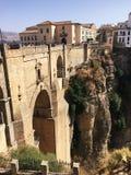 `El Tajo` of Ronda and Ronda New Bridge. Mountaintop city in Spain's Malaga province Royalty Free Stock Image