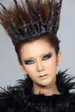 El talento creativo de lujo estilo compone y de pelo en hermoso asiático imágenes de archivo libres de regalías