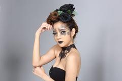 El talento creativo de lujo estilo compone y de pelo en hermoso asiático fotos de archivo
