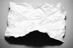 El tamaño A4 arrugó el estilo blanco y negro de papel del tono del color Foto de archivo libre de regalías