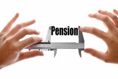 El tamaño de nuestra pensión imagenes de archivo