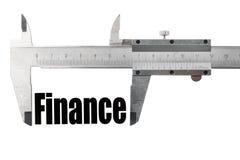 El tamaño de nuestras finanzas foto de archivo libre de regalías