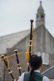 El tambor y la falda escocesa Imagen de archivo libre de regalías