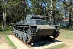 El tanque alemán T-2B en la línea compleja conmemorativa de gloria Imagen de archivo