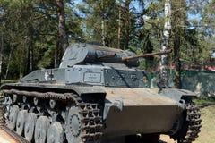 El tanque alemán T-2B en la línea compleja conmemorativa de gloria en la carretera de Volokolamsk Fotografía de archivo libre de regalías