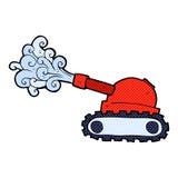 el tanque cómico de la historieta Imagen de archivo libre de regalías
