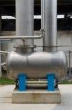 El tanque de acero de alta presión Foto de archivo libre de regalías