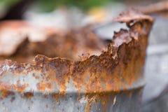 El tanque de acero oxidado imagen de archivo