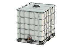 El tanque de agua blanca Imágenes de archivo libres de regalías