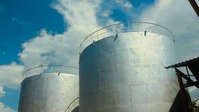 El tanque de agua industrial almacen de video
