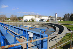 El tanque de aguas residuales Fotografía de archivo