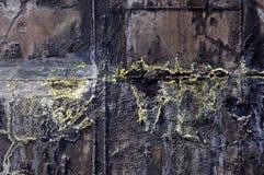 El tanque de aguas residuales oxidado Foto de archivo libre de regalías