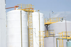 El tanque de almacenaje químico Fotos de archivo