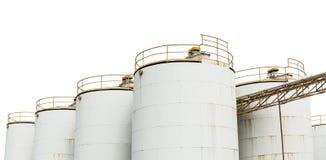 El tanque de almacenamiento de aceite imagenes de archivo