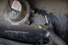 el tanque de alta presión para el gas de la gasolina del lpg Fotografía de archivo
