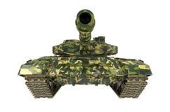 El tanque de batalla cerca aislado Fotografía de archivo libre de regalías