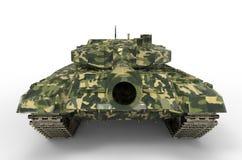 El tanque de batalla cerca aislado Imagen de archivo libre de regalías