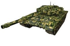 El tanque de batalla cerca aislado Fotos de archivo