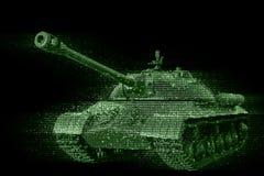 El tanque de batalla de la exhibición del pixel Imagen de archivo libre de regalías