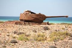 El tanque de batalla soviético T-34 Imagenes de archivo