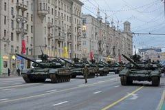 El tanque de batalla T-90 Imagen de archivo