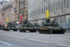 El tanque de batalla T-90 Imagen de archivo libre de regalías