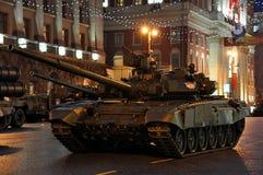 El tanque de batalla T-90 en la calle de Tverskaya moscú Imagen de archivo libre de regalías