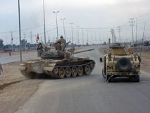El tanque de ejército iraquí foto de archivo libre de regalías