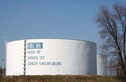 El tanque de gasolina y aceite Imagen de archivo libre de regalías
