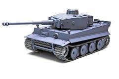 El tanque de German del modelo de escala Imagen de archivo libre de regalías
