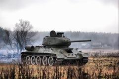 El tanque de HDR.Soviet de la Segunda Guerra Mundial Fotografía de archivo libre de regalías