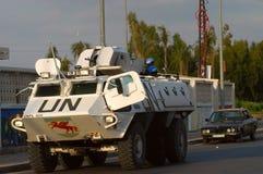 El tanque de la O.N.U en Líbano Fotos de archivo libres de regalías