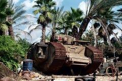 El tanque de la Primera Guerra Mundial en los estudios 1991 de Disney/MGM Foto de archivo