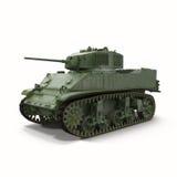 El tanque de M5A1 Stuart Light WWII LOS E.E.U.U. en el fondo blanco Imagen de archivo libre de regalías