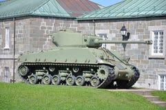 El tanque de M4 Sherman en Citadelle de Quebec foto de archivo