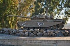 El tanque de Merkava imagenes de archivo