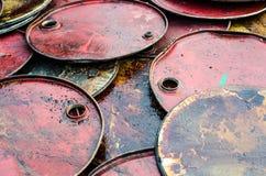El tanque de petróleo recicla Fotografía de archivo