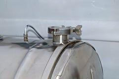 El tanque de plata Imágenes de archivo libres de regalías