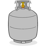 El tanque de propano libre illustration