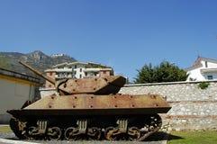 El tanque de WWII - Monte Cassino - Italia Fotos de archivo